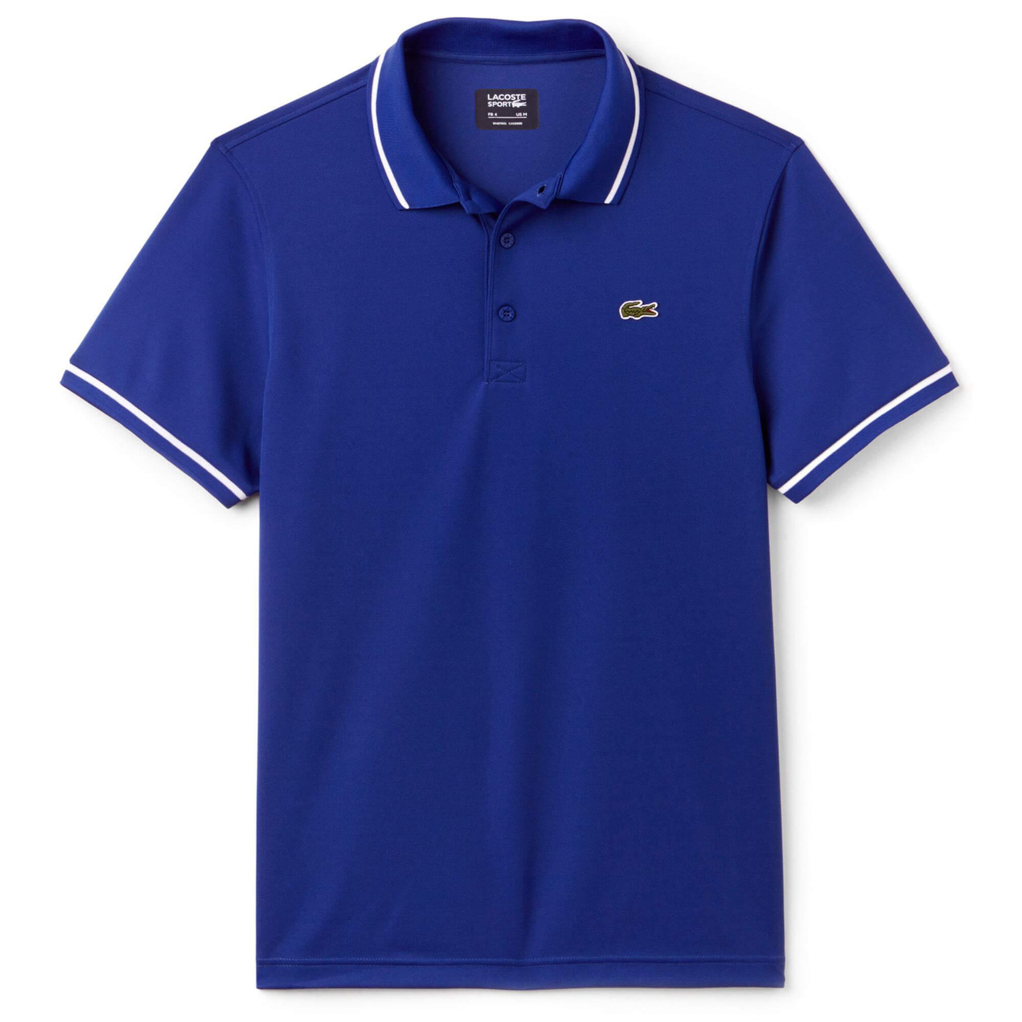 Lacoste Męska Sportowa Koszulka Polo Do Gry W Tenisa Z Technicznej Piki