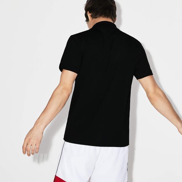 Lacoste Męska Sportowa Koszulka Polo Do Gry W Tenisa Regular Fit Z Ultralekkiej Dzianiny