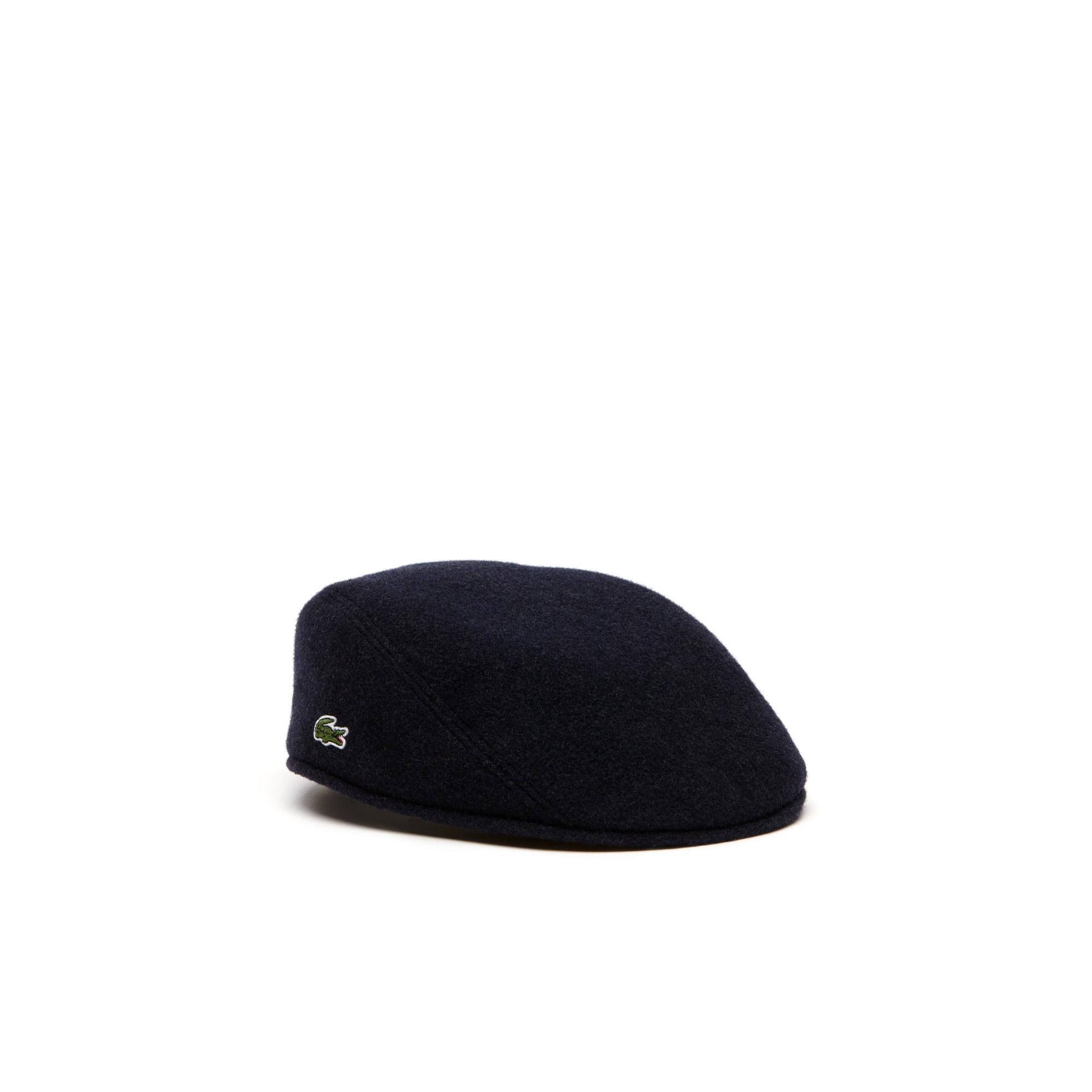 Lacoste Men's Wool Broadcloth Flat Cap