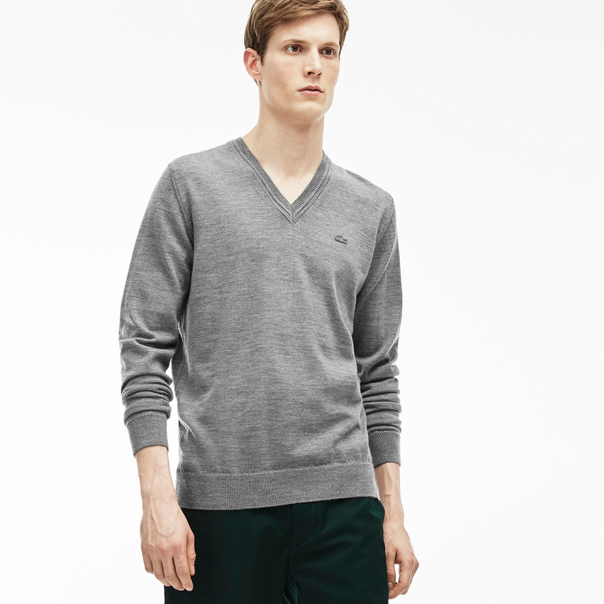 Lacoste Men's V Neck Sweater