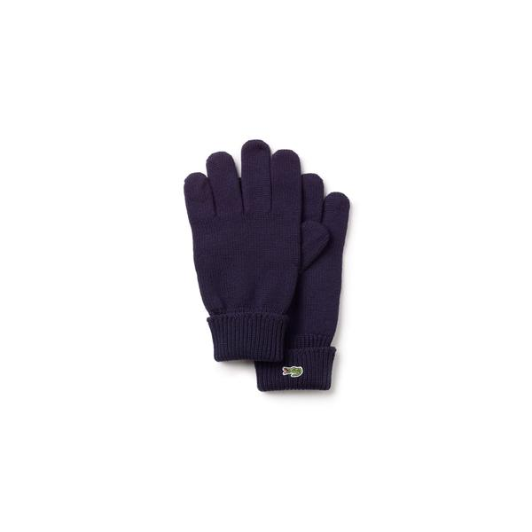 Lacoste Men's Ribbed Wool Gloves