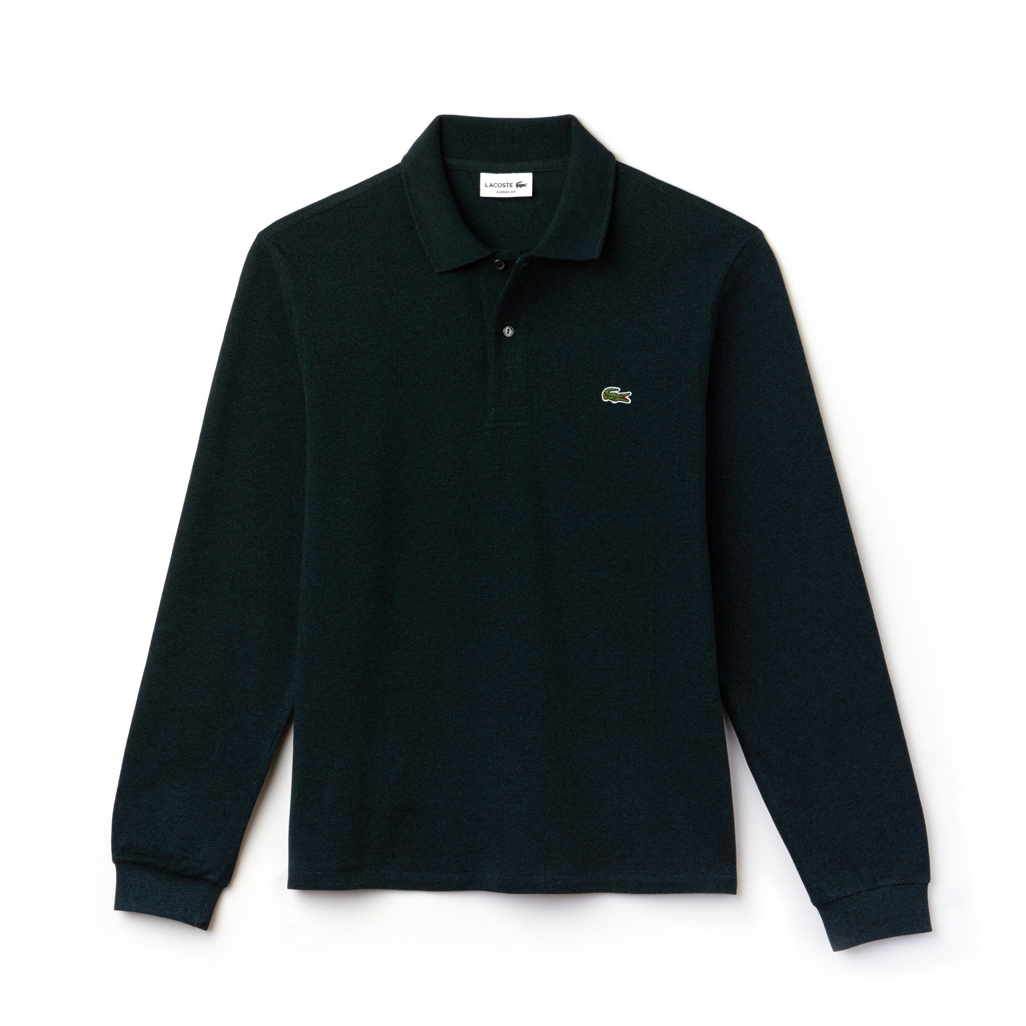Lacoste Lacoste Classic Fit Long-Sleeve Polo Shirt İn Marl Petit Piqué