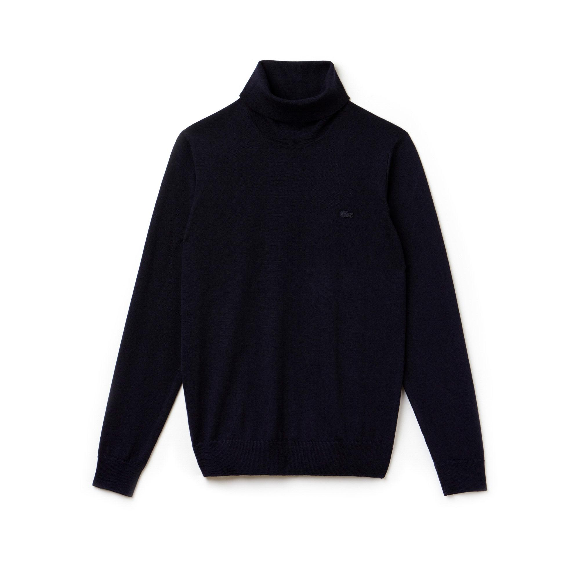 Lacoste Men's Turtleneck Wool Jersey Sweater