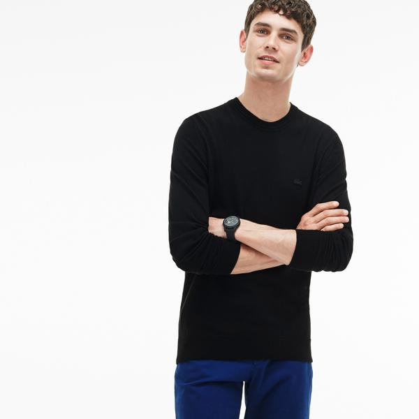 Lacoste Men's Crew Neck Wool Jersey Sweater