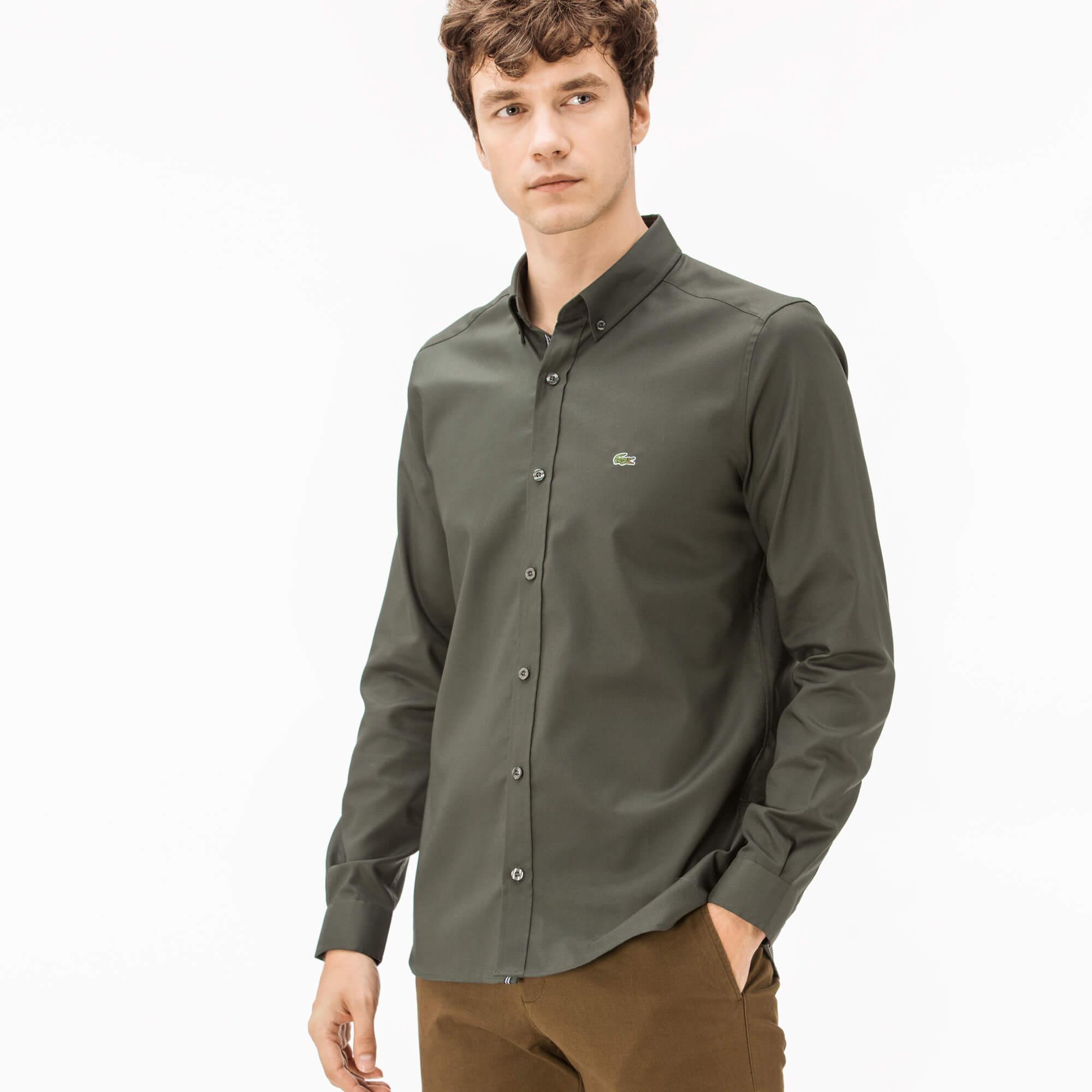 Lacoste Men's Slim Fit Oxford Shirts