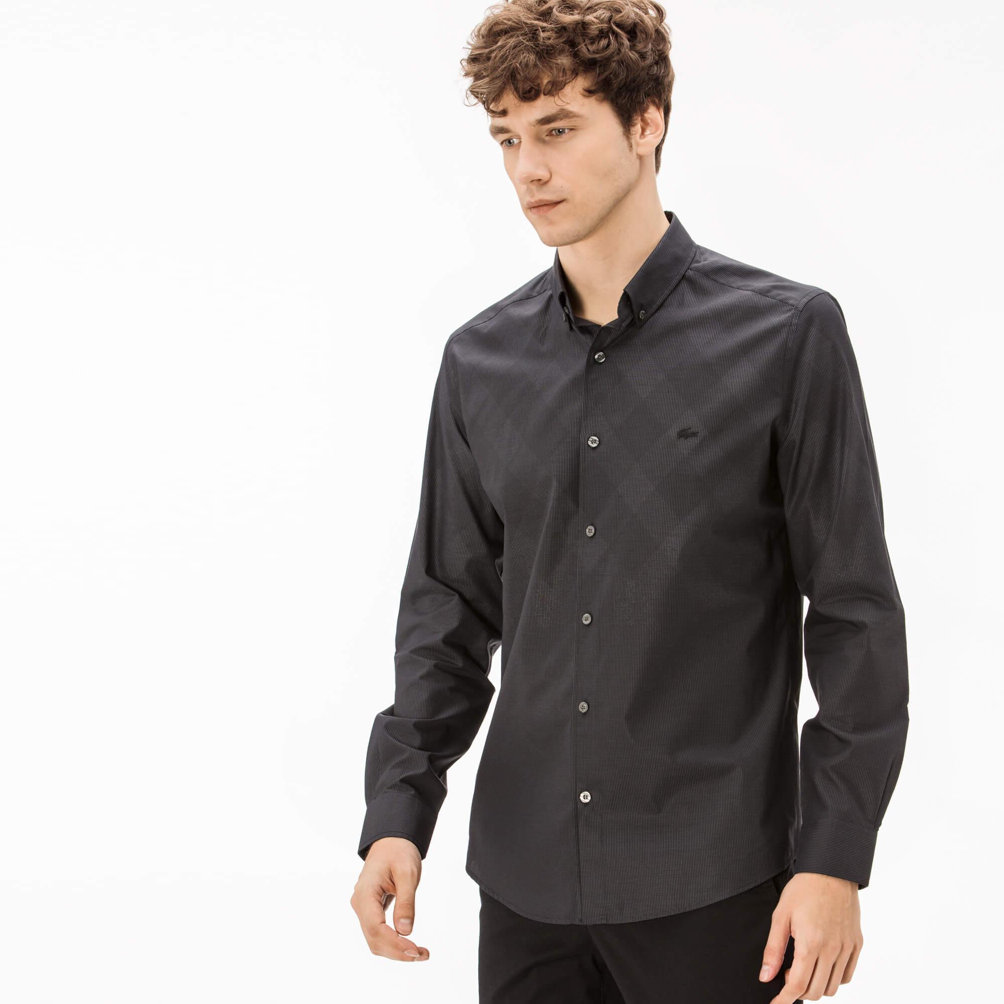 Lacoste Men's Slim Fit Plaid Shirt