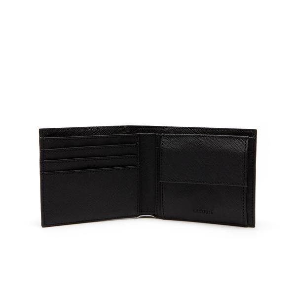 Lacoste Men's Classic Petit Piqué Three Card Wallet