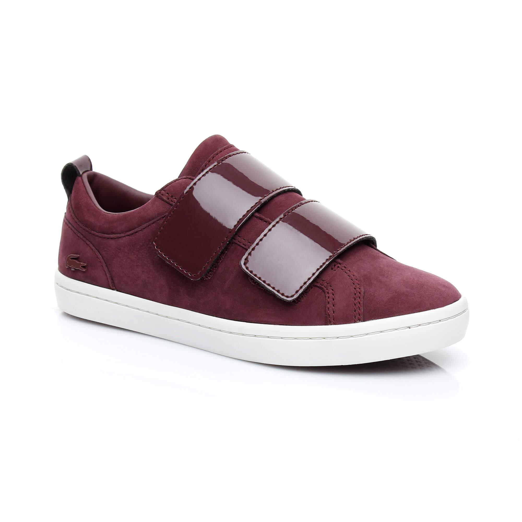 Lacoste Women's Straightset Strap 318 1 Bordeaux Sneaker