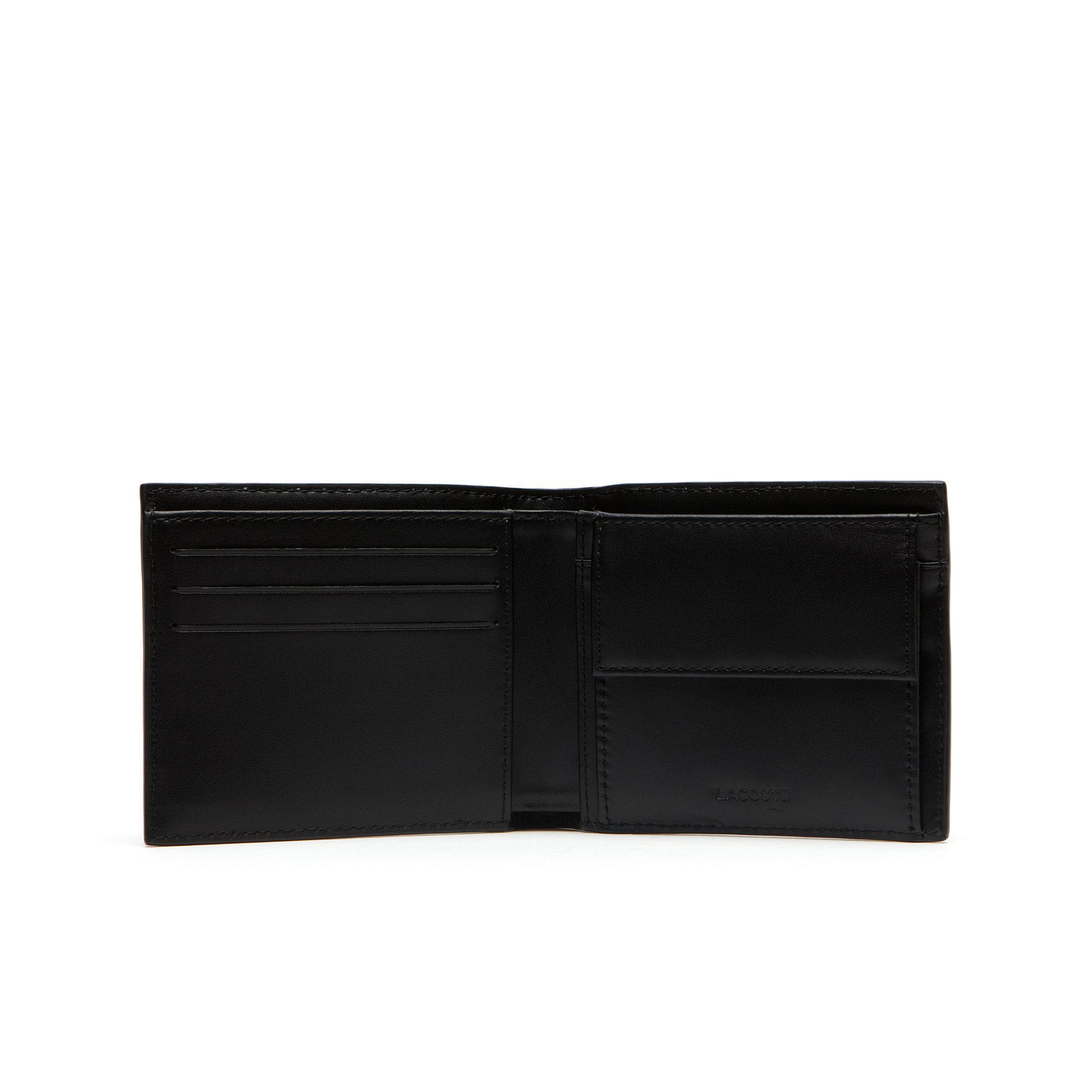 Lacoste Męski skórzany portfel Fitzgerald