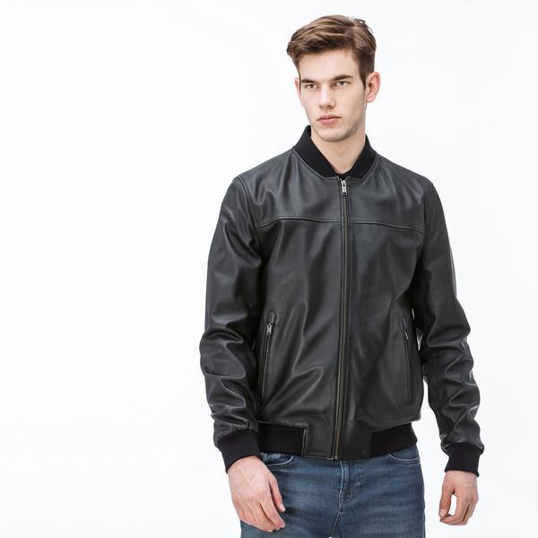 Lacoste Men's Leather Jacket