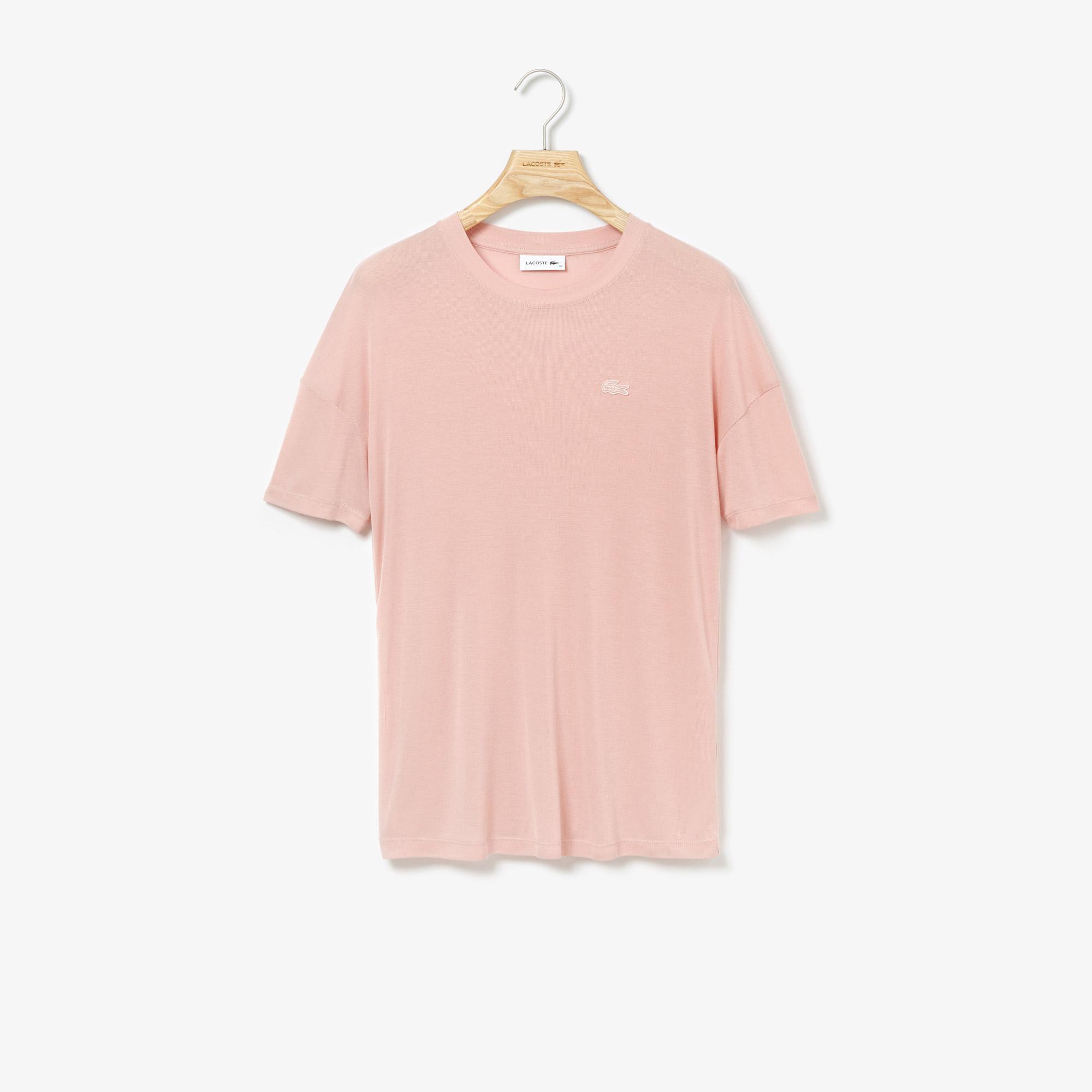 Lacoste Women's Wide Neck Rayon T-Shirt
