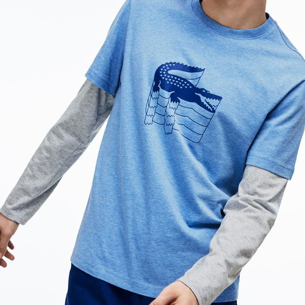 Lacoste Men's Crew Neck Cotton Piqué T-Shirt