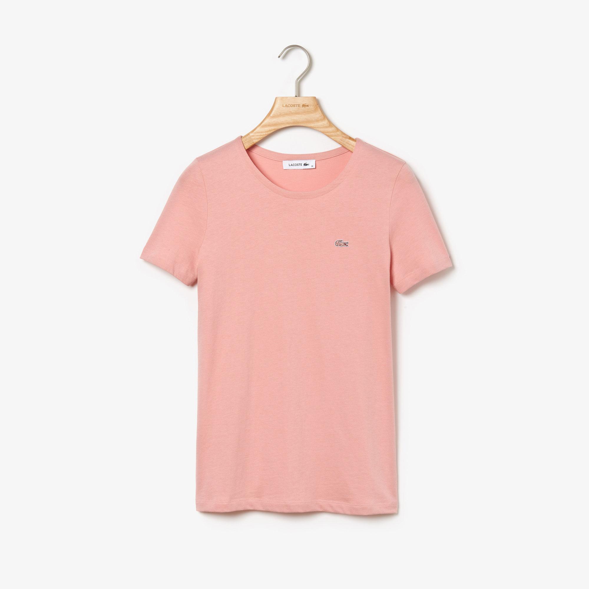 Lacoste Women's Crew Neck Flowing Cotton Jersey T-Shirt