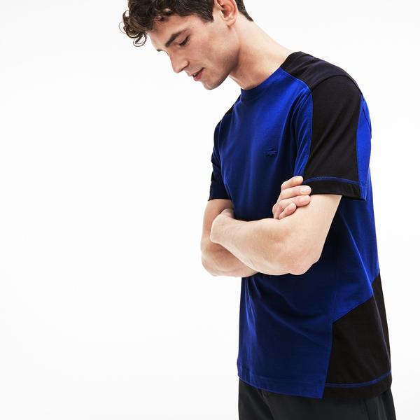 Lacoste Motion Men's Crew Neck Bicolour Ultra Light Cotton T-Shirt