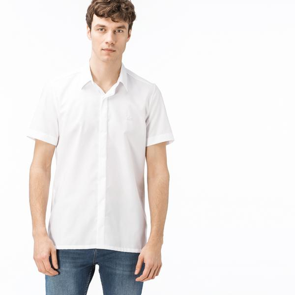 Lacoste Men's Short Sleeve Regular Fit Wovens Shirt