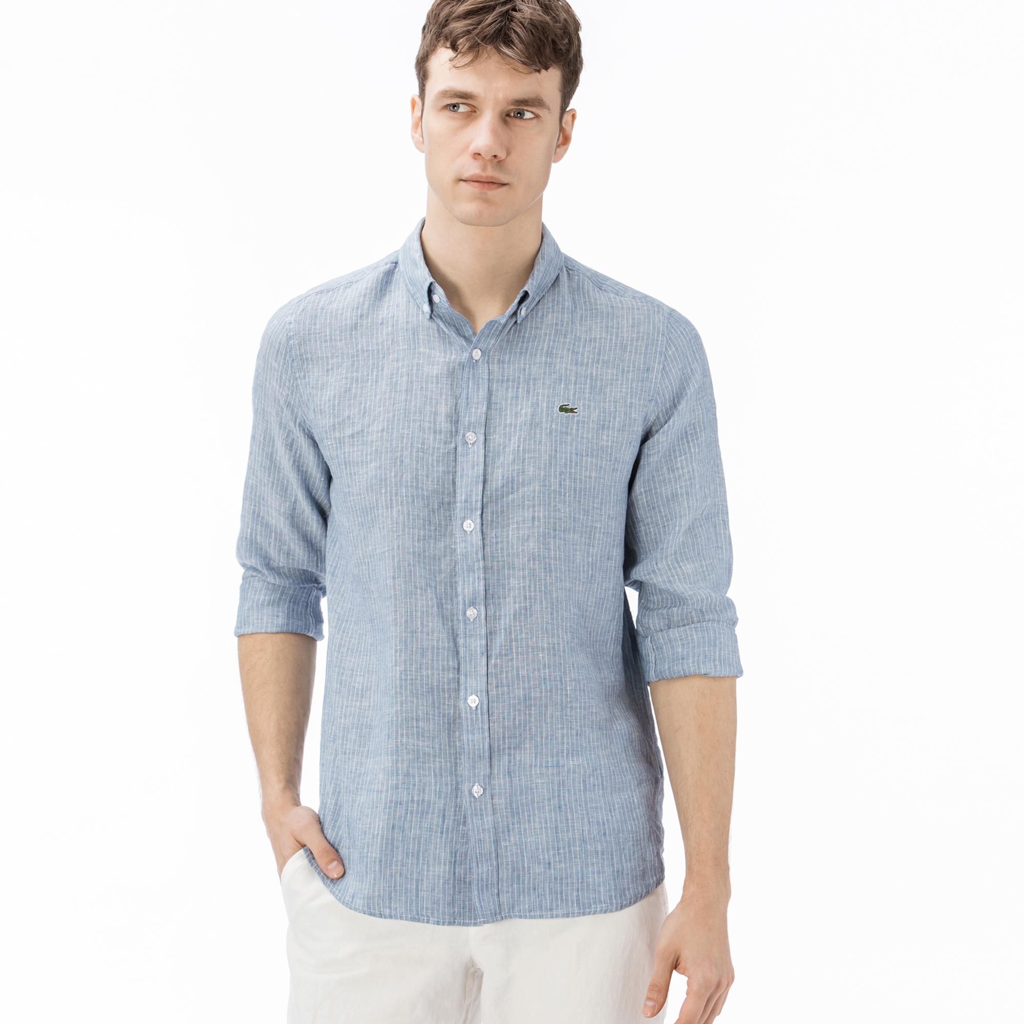 eb794faca Lacoste Men's Long Sleeve Wovens Shirt CH0912 12M | lacoste.pl ...