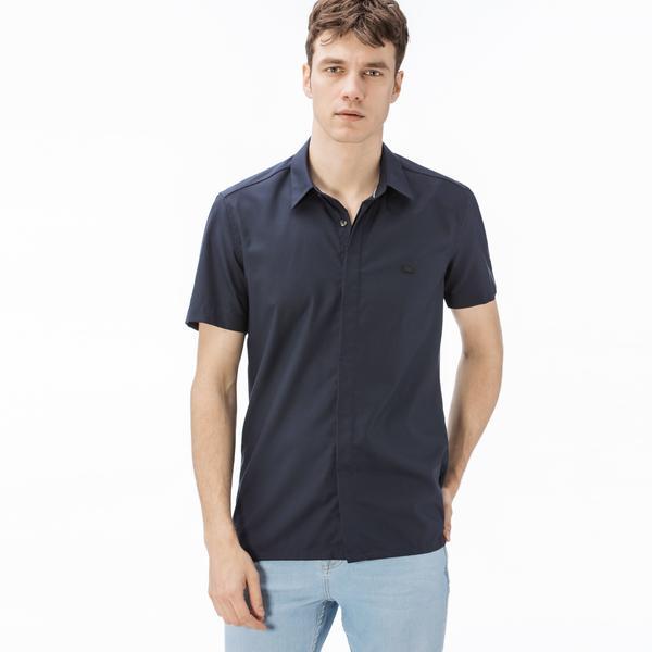 Lacoste Men's Short Sleeve Regular Fit Wovens Shirt