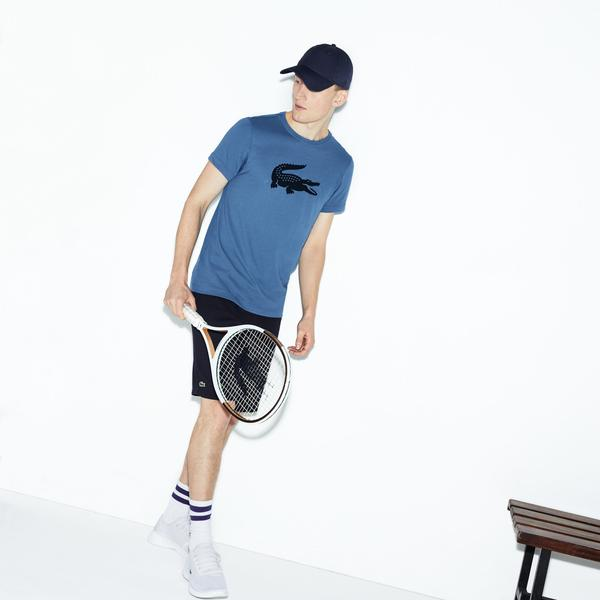 Lacoste Sport Men's Oversized Crocodile Technical Jersey Tennis T-Shirt
