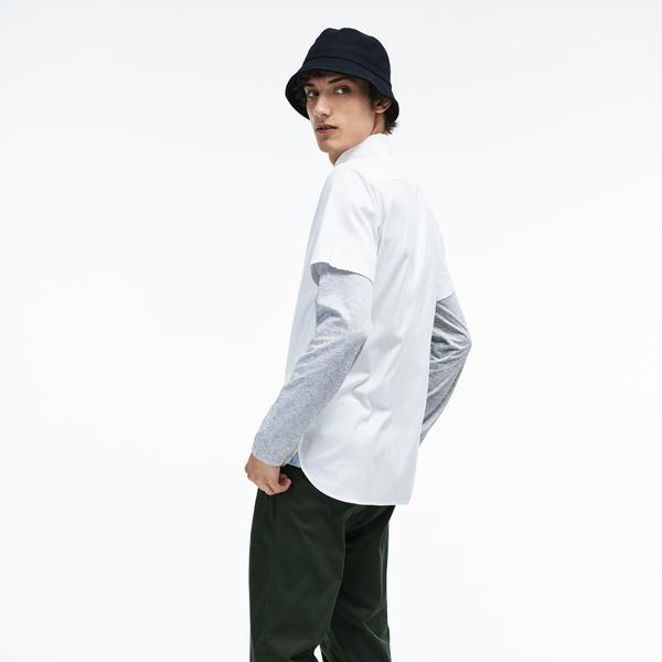 Lacoste Men's Short Sleeve Wovens Shirts
