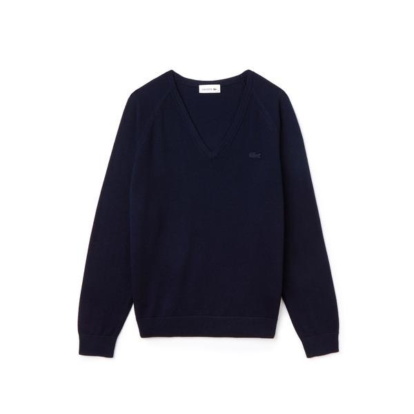 Lacoste Women's V Neck Sweater