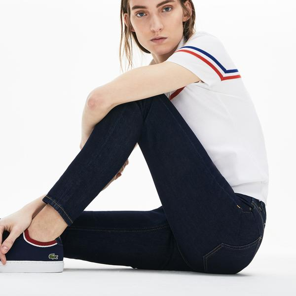 Lacoste Women's Skinny Fit Jeans İn Stretch Cotton