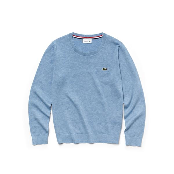 Lacoste Boy's Crew Neck Cotton Jersey Sweater
