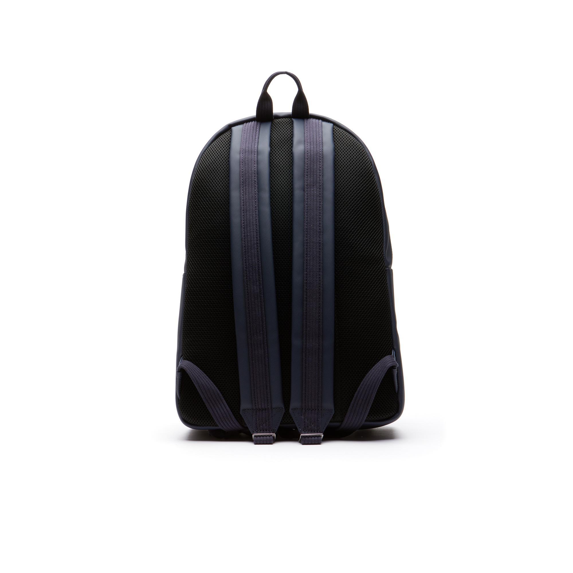 Lacoste Męski klasyczny plecak na zamek błyskawiczny z drobnej piki