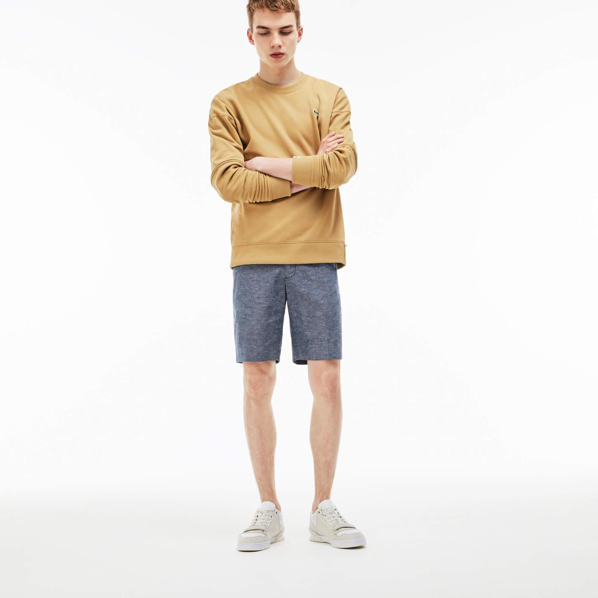 Men's Lacoste LIVE Linen And Cotton Chambray Bermuda Shorts