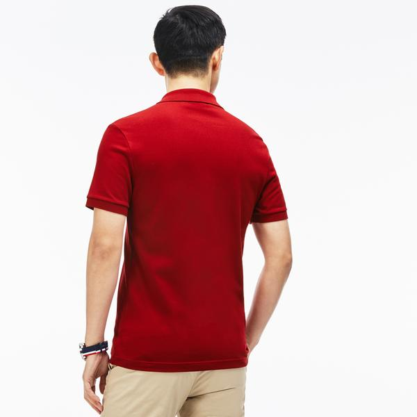 Lacoste Men's Slim Fit Lacoste Polo Shirt İn Stretch Petit Piqué