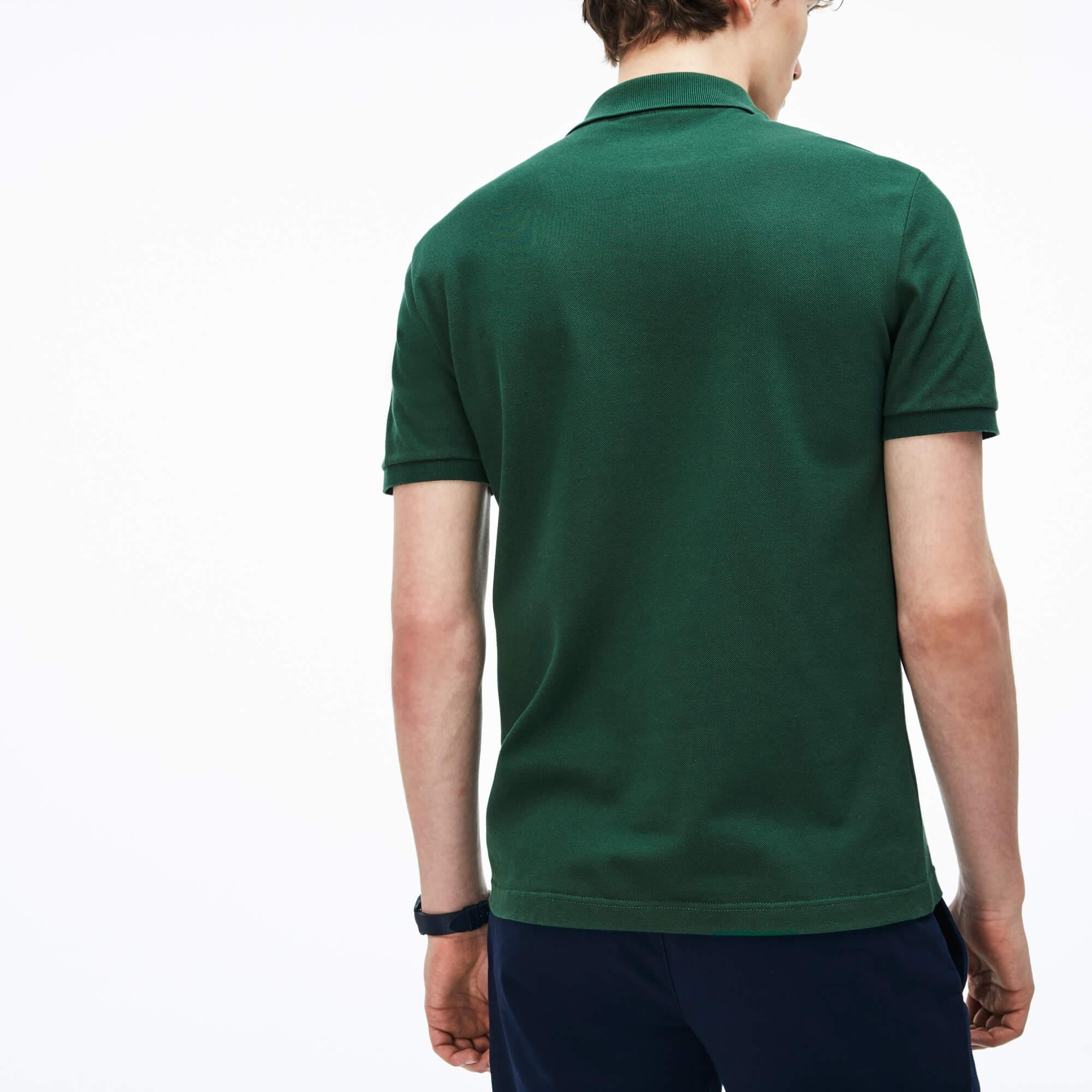 Lacoste Men's Slim Fit Lacoste Polo Shirt İn Stretch Petit Piqué