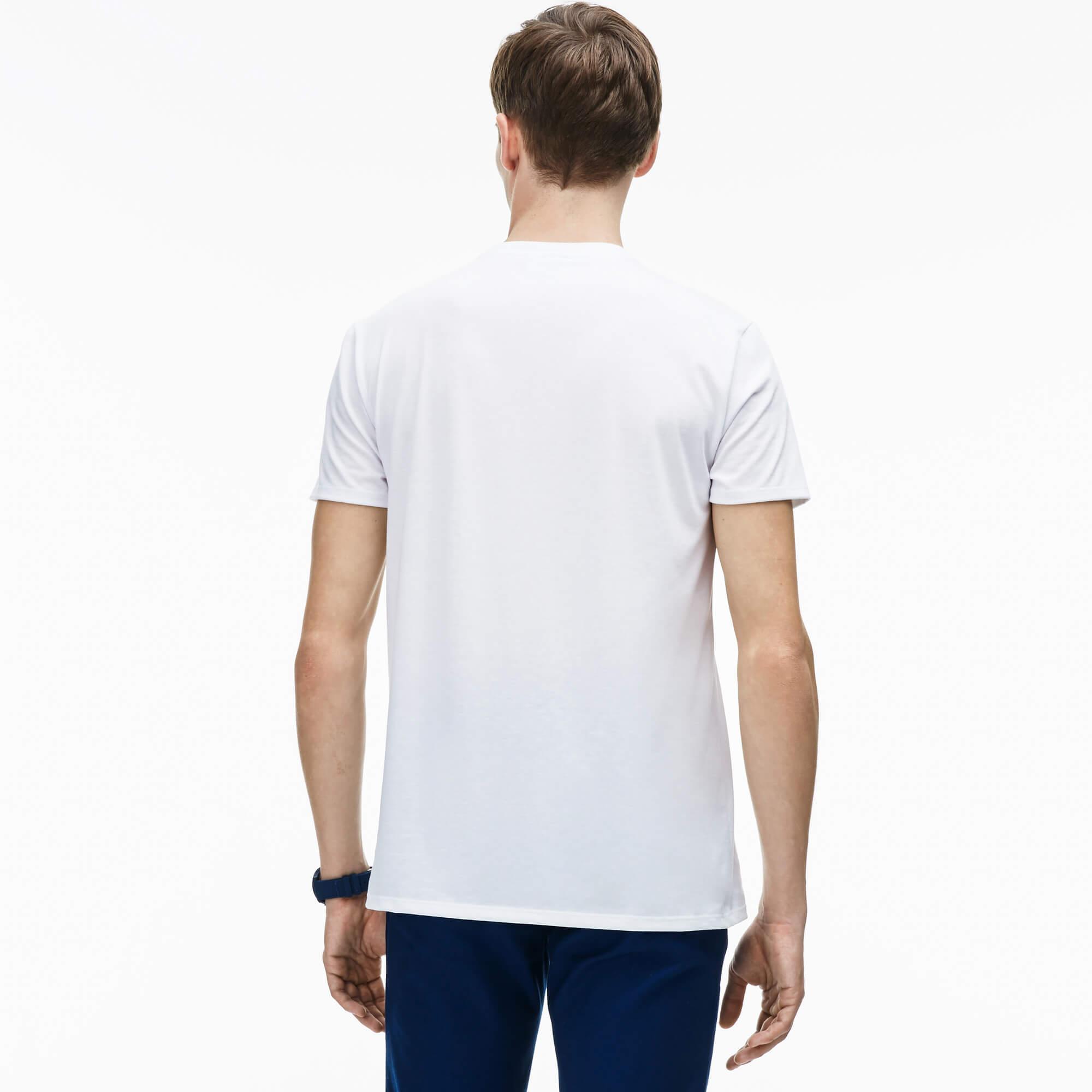 Lacoste Męski T-Shirt Z Okrągłym Dekoltem Z Dżerseju Z Bawełny Pima