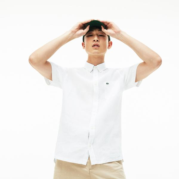Lacoste Men's Regular Fit Linen Shirts
