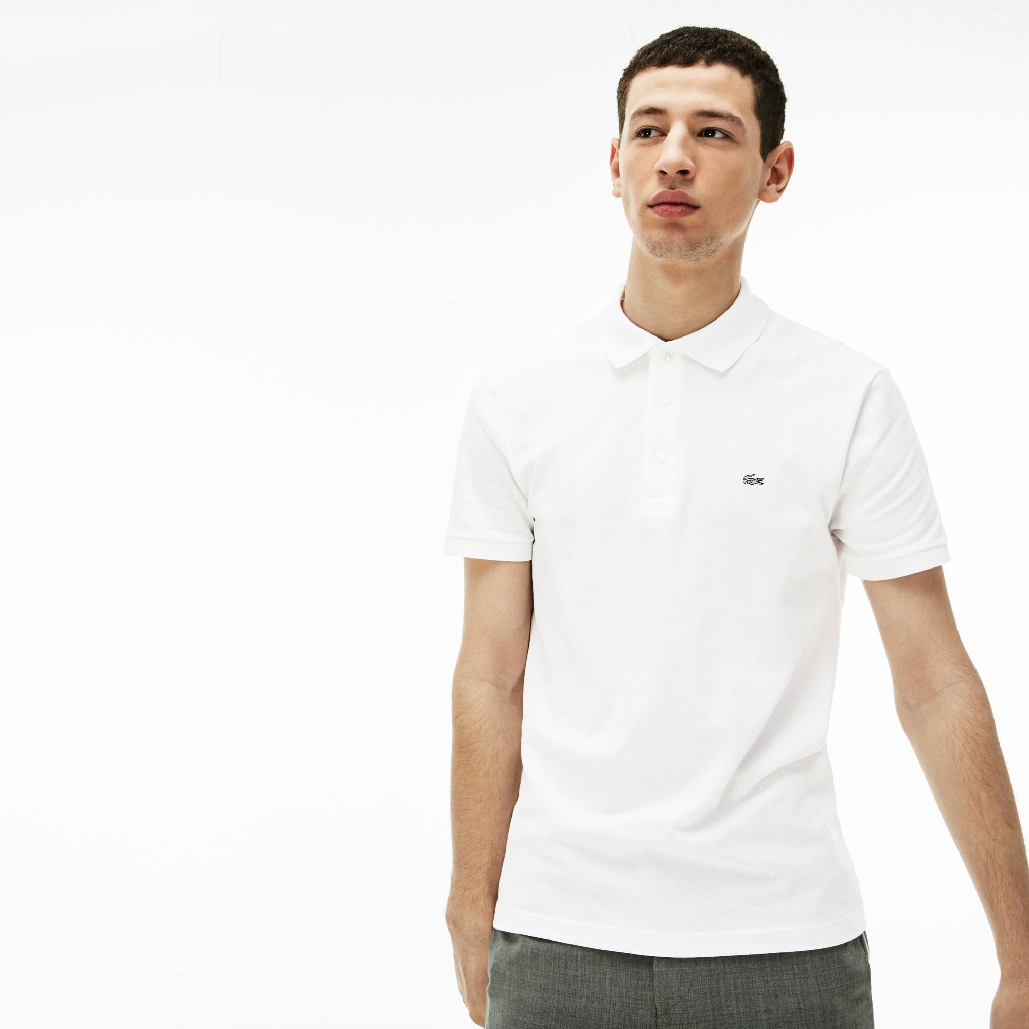 Lacoste Męska Elastyczna Koszulka Polo Slim Fit Z Drobnej Piki