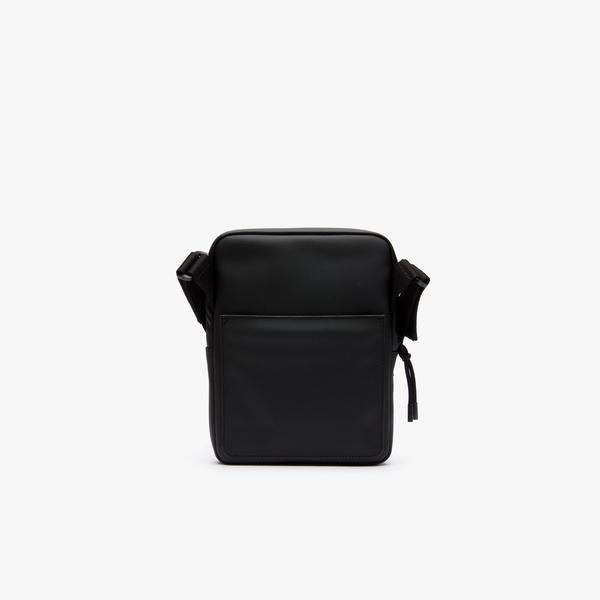 Lacoste Men's L.12.12 Concept Coated Petit Piqué Canvas Flat Zip Bag