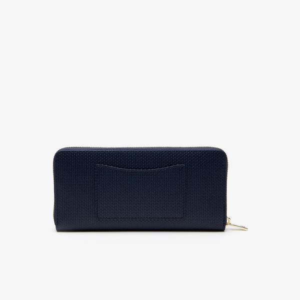 Lacoste Women's Chantaco Bicolour Piqué Leather 12 Card Zip Wallet