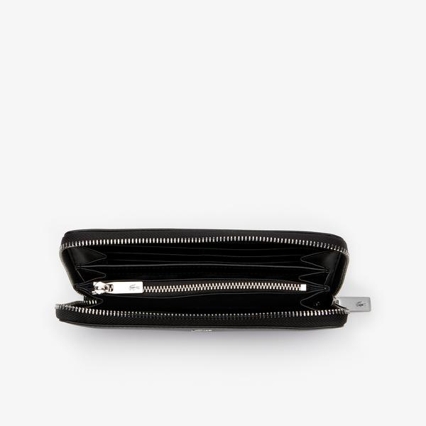 Lacoste Men's Fitzgerald Leather 16 Card Zip Wallet