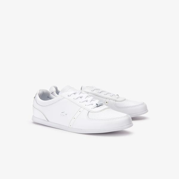 Ladies' White Lacoste Shoes