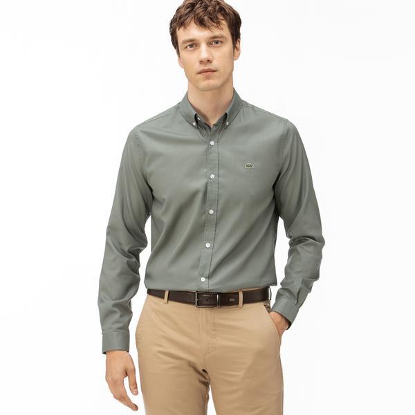 Lacoste Męska Koszula Z Bawełny Oxford Regular Fit
