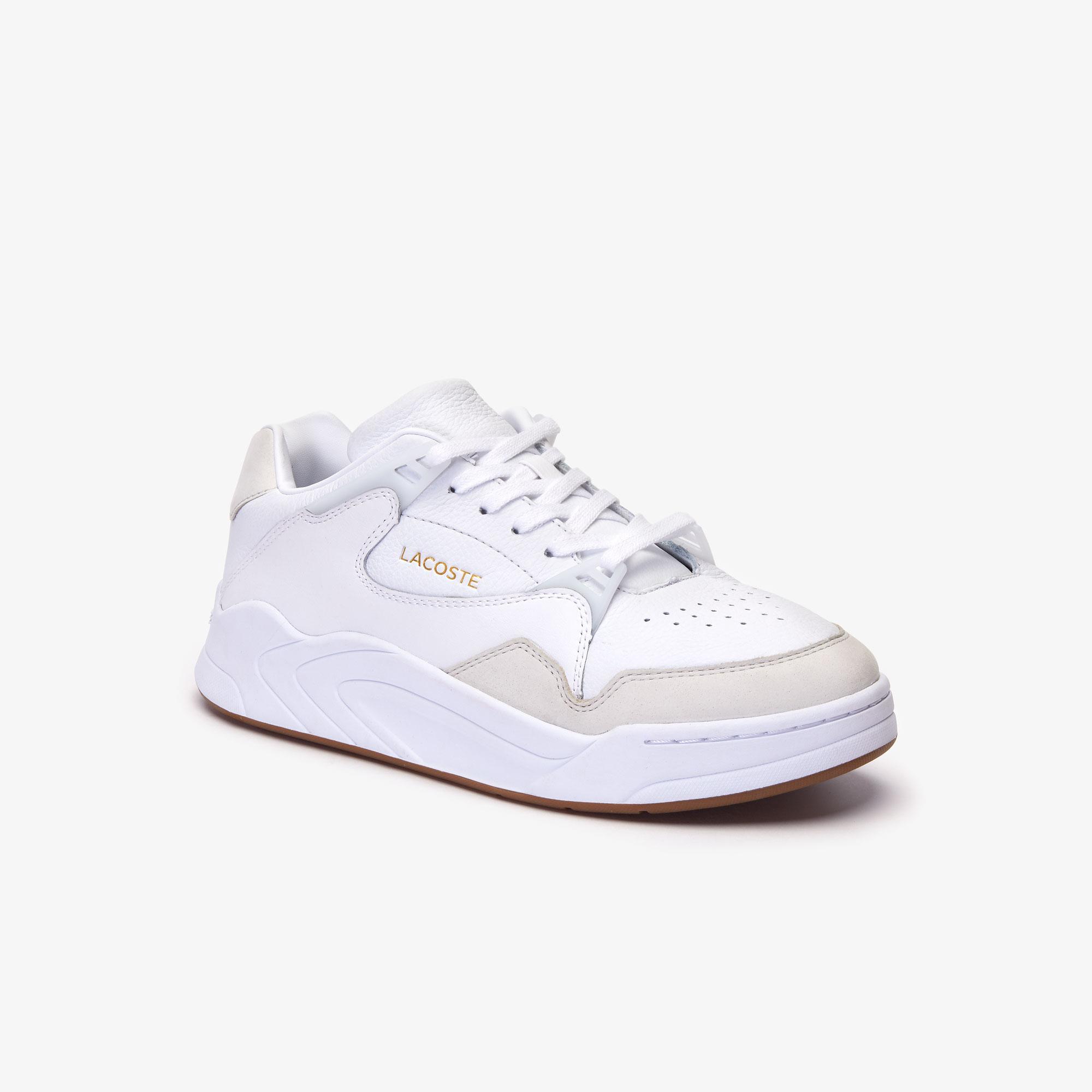 Lacoste Court Slam 319 1 Sma Sneakers Męskie Skórzane Biało-Szare