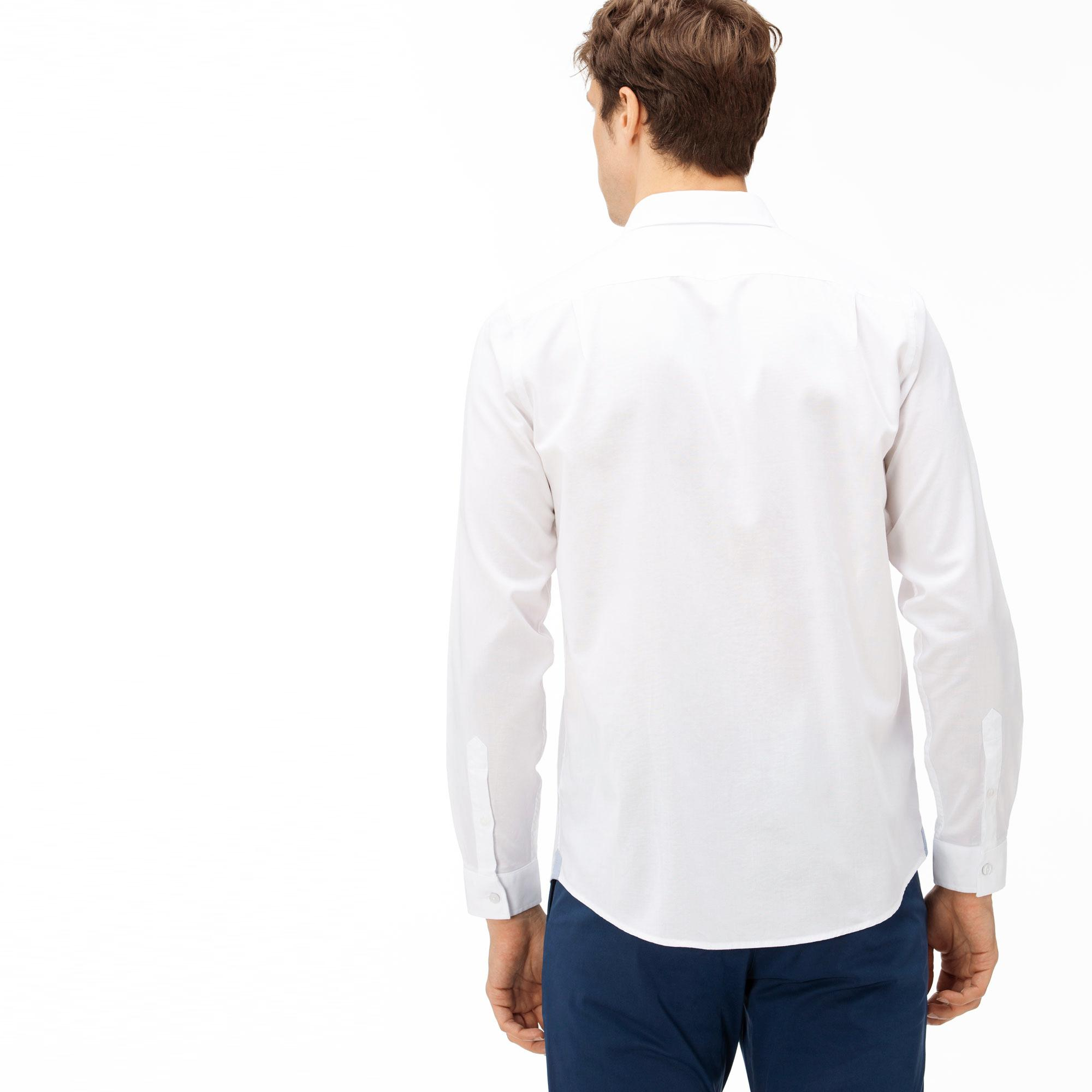 Męska Koszula Z Bawełny Oxford Regular Fit Lacoste