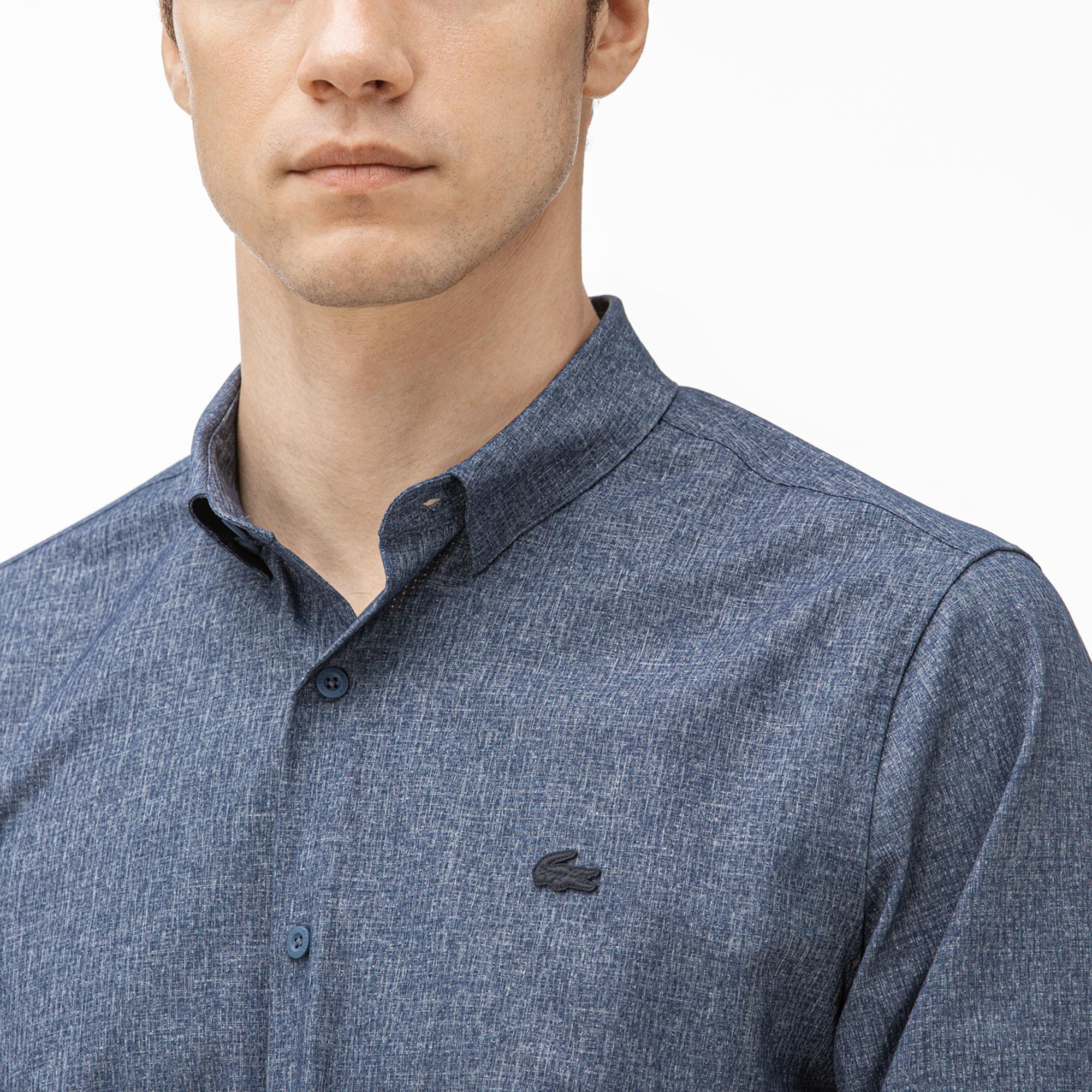Lacoste Men's Motion Regular Fit Thermoregulating Stretch Shirt