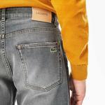 Lacoste Męskie Elastyczne Jeansy Slim Fit Z 5 Pięcioma Kieszeniami