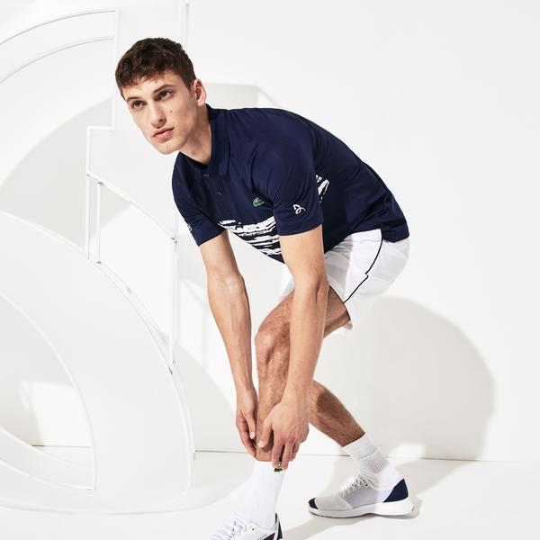 Lacoste Sport Men's X Novak Djokovic Stretch Print Jersey Polo Shirt