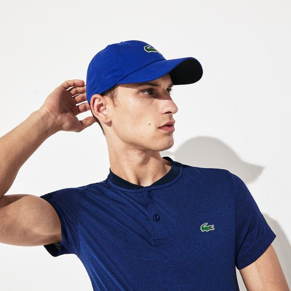 Lacoste Sport Men's X Novak Djokovic Heathered Tech Jersey Polo Shirt
