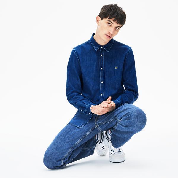 Lacoste Men's L/S woven shirt