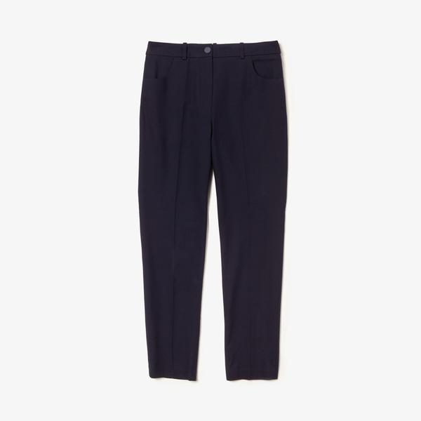 Lacoste Women's Slim Fit Stretch Cotton Serge Pants
