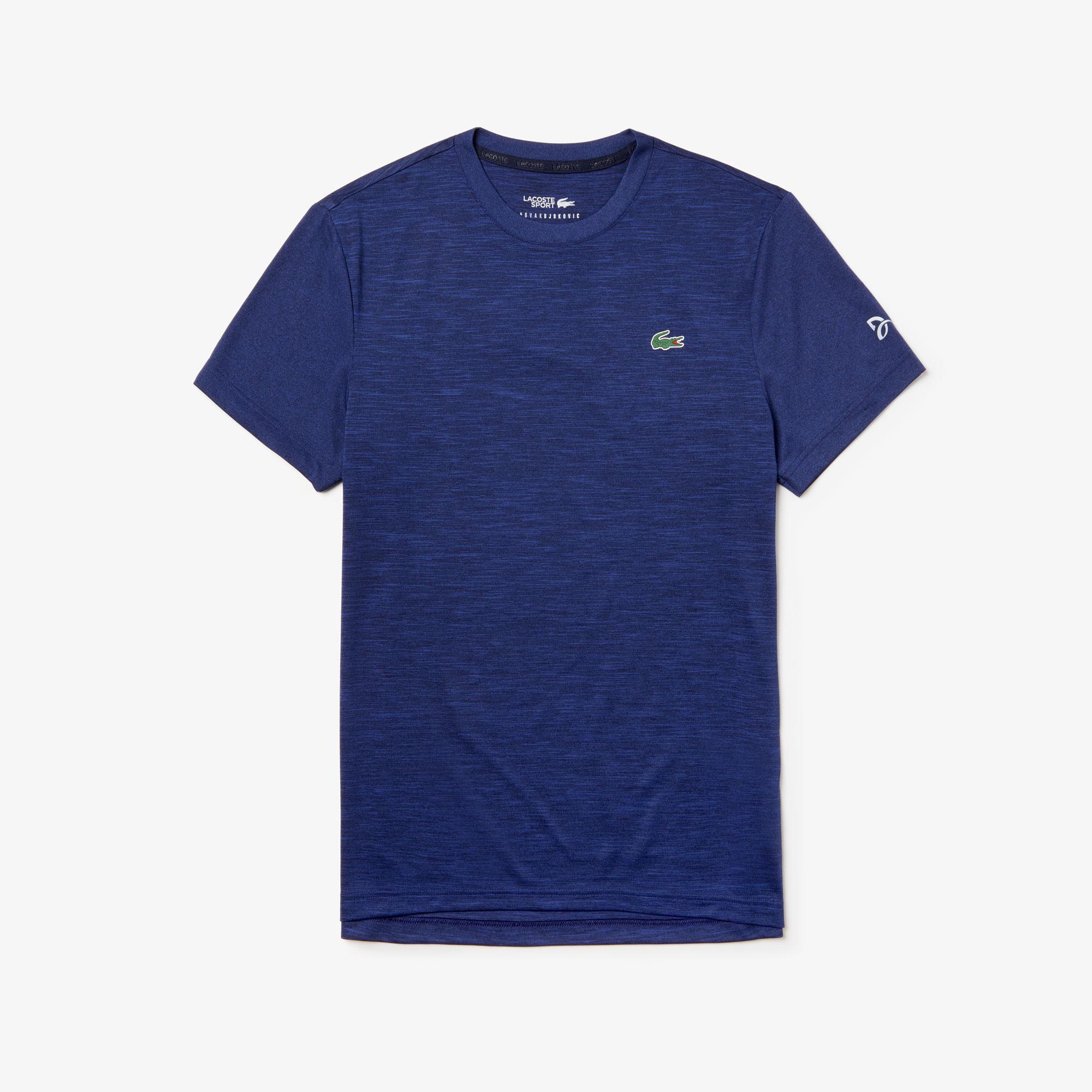 Lacoste Sport Men's X Novak Djokovic Heathered Tech Jersey T-Shirt