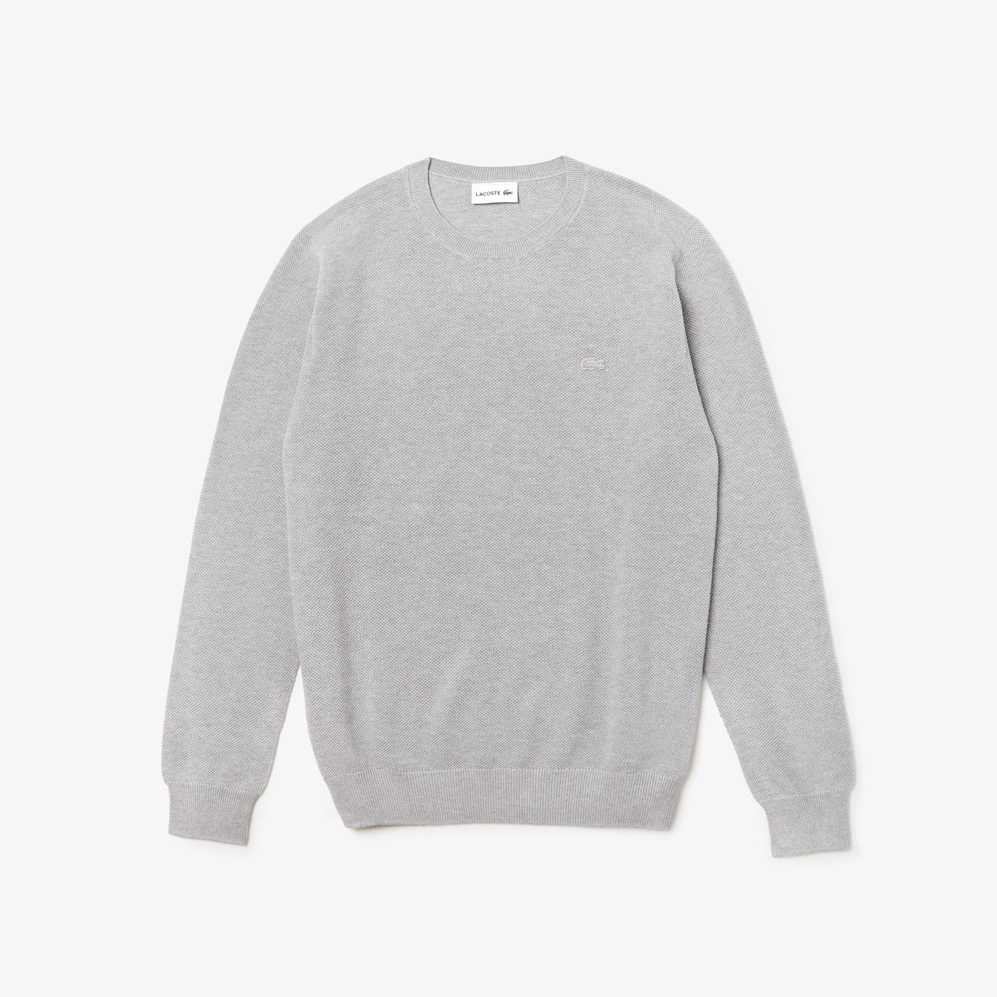 Lacoste Men's Crew Neck Cotton Piqué Sweater