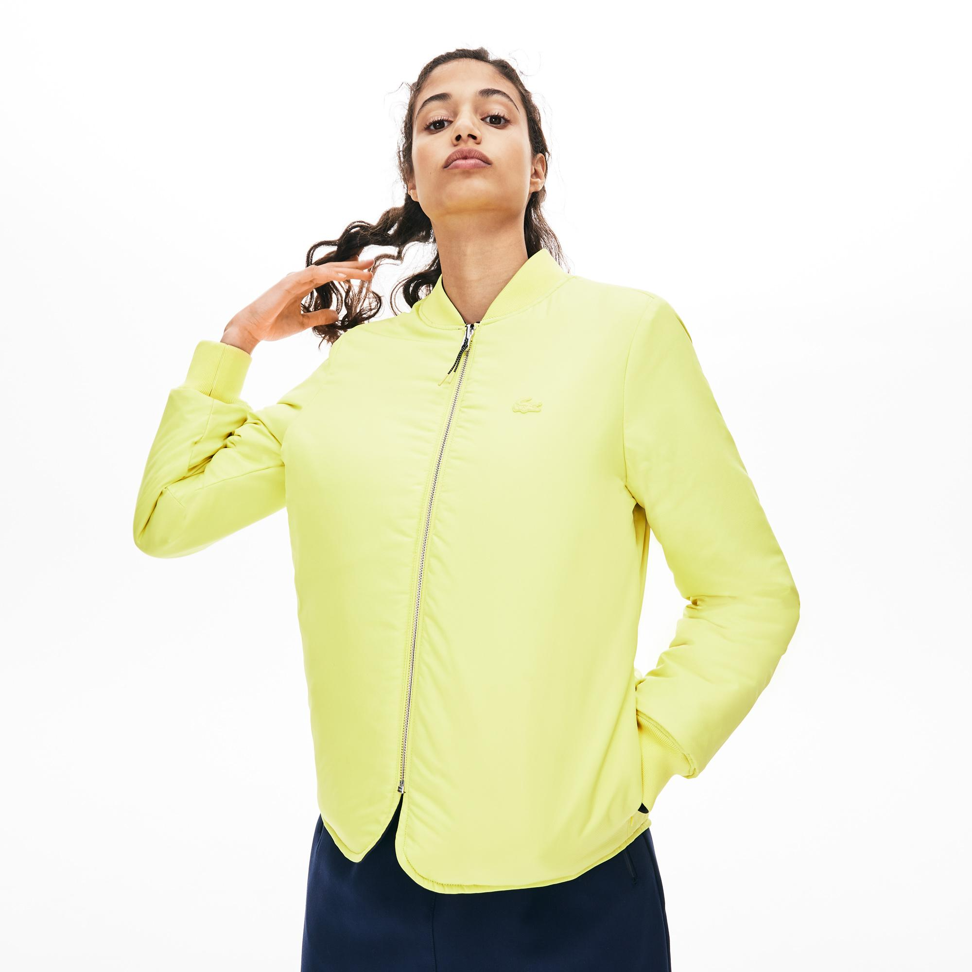 Lacoste Women's Seamlessly Quilted Reversible Bi-Material Rain Jacket
