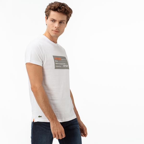 Lacoste Sport Men's 3D Print Cotton T-Shirt